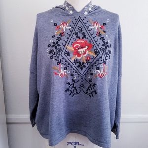 THML Beautiful Embroidery Pullover Hood Sm…